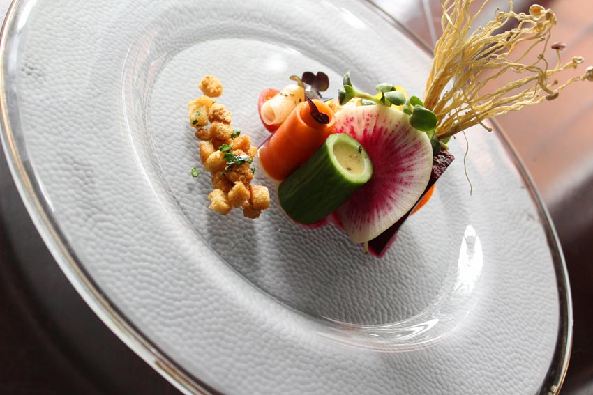 Carved Vegetable Appetizer